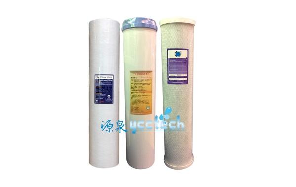【源泉淨水】台製20英吋大胖水塔過濾淨水器PP濾心+食品級NSF認證樹脂濾心+活性碳濾心 1