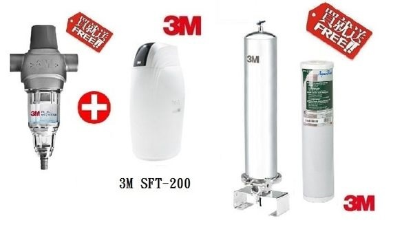 3M SS802全戶式不鏽鋼淨水系統 + 3M SFT-150全戶軟水系統 【本月贈AP817-2濾心+3M BFS1-80反洗式淨水系統】【贈全省免費標準安裝】【分期0利率】 1